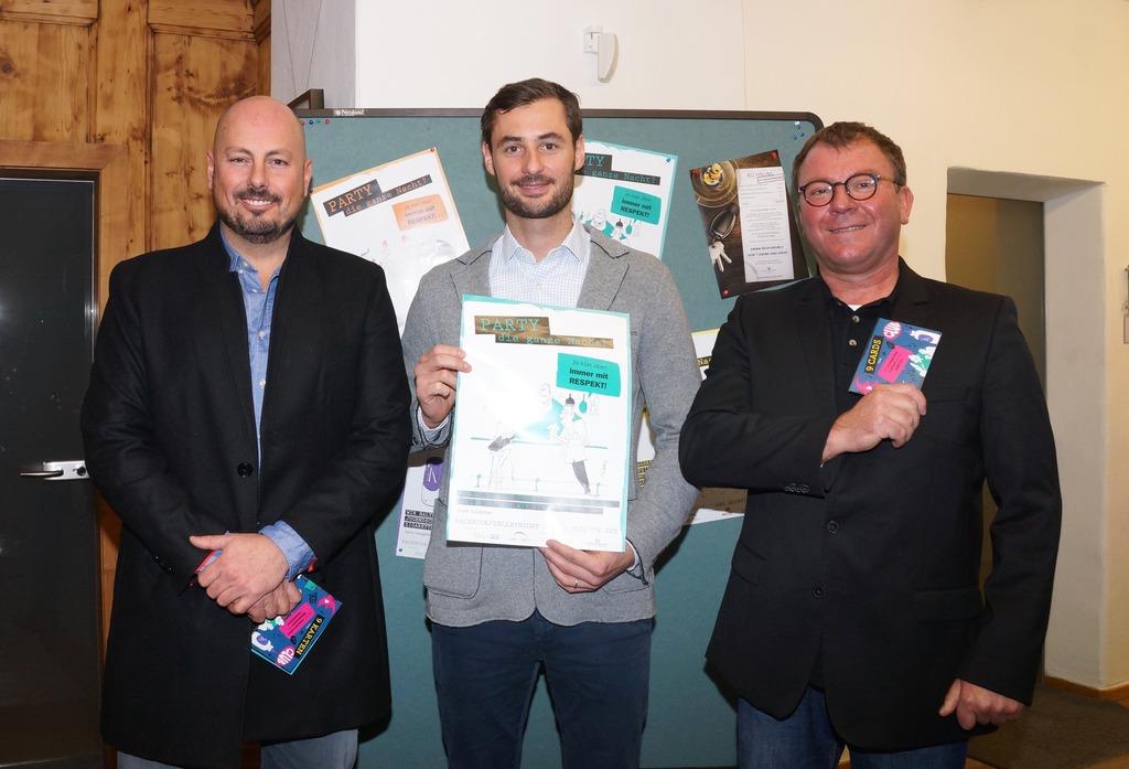"""Initiatoren von """"Zell by Night"""", die Gastronomen Rudi Eder (Insider, K1), Karl Halbmayer (Greens) und Hannes Suntinger (Gin-House)."""