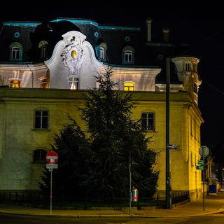 Die rückwärtige Ansicht der Französischen Botschaft in Wien....