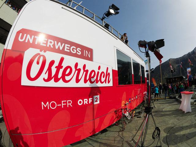 """Der Tourbus für das mobile Studio von """"Unterwegs in Österreich"""" wird in der Zeit von 27. November bis 1. Dezember öfters im Bezirk Deutschlandsberg zu sehen sein."""