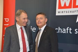 Freuen sich über eine boomende Wirtschaft: WK-Präsident Peter Nemeth und WK-Experte Christoph Schneider
