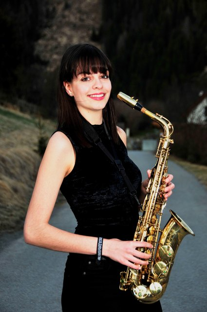 Katja Zwanziger liebt die Musik und ihr Saxophon. Foto: KK