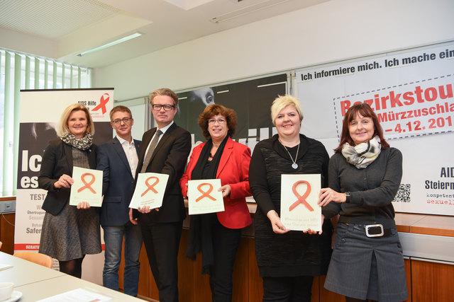 Die Bezirkstour der Aidshilfe Steiermark hat vergangene Woche erstmals im Bezirk Bruck gestartet.