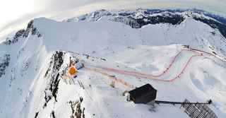Der Start der Kälberlochstrecke erfolgt am Gipfel des Gamskogel.