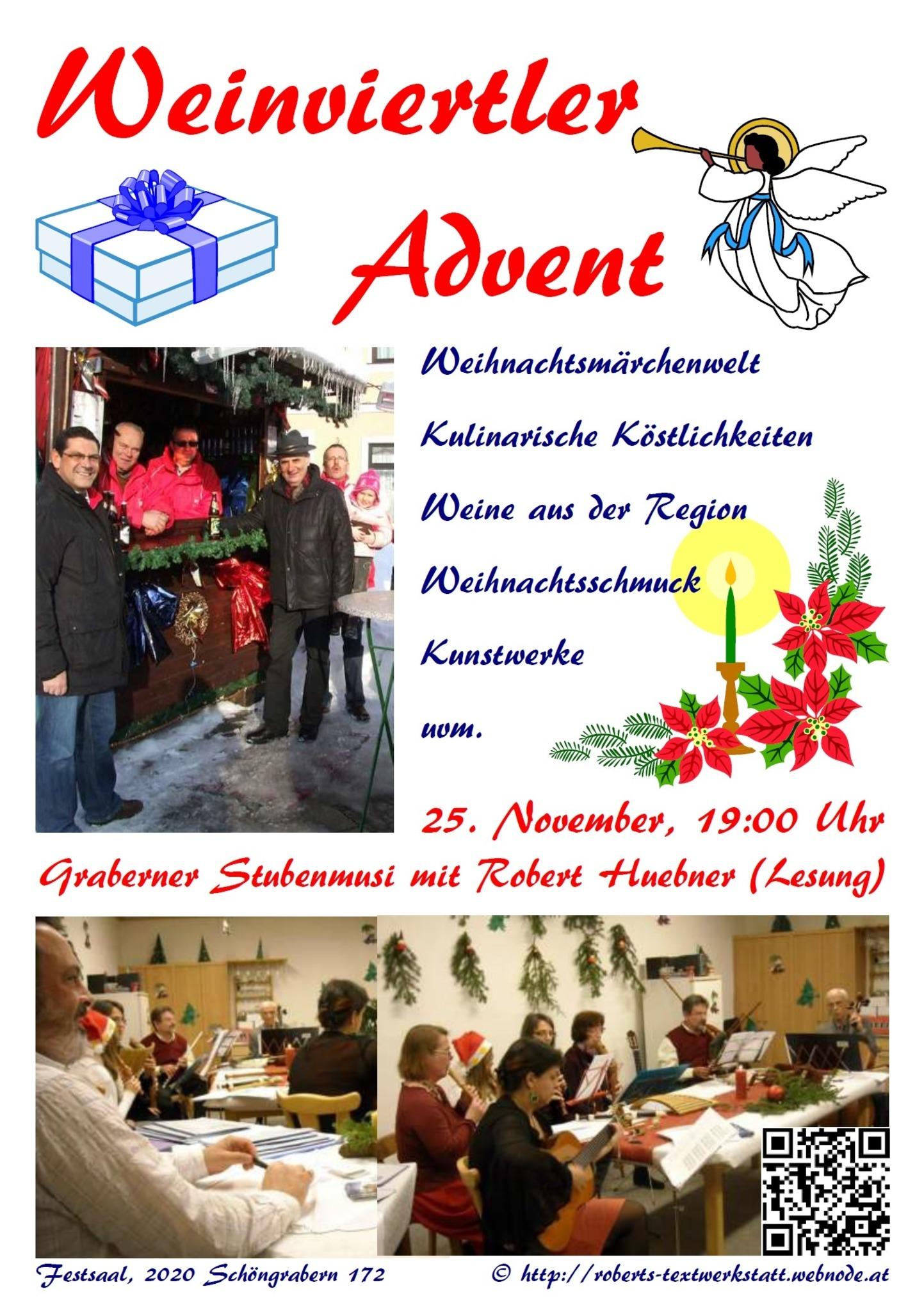 Mundart Weihnachtsgedichte.Weinviertler Advent In Grabern Hollabrunn