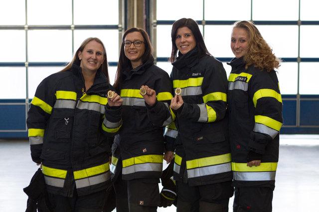 Eine wahre Meisterleistung der vier Feuerwehrdamen aus dem Bezirk Leibnitz.