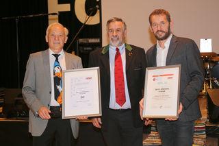 Obmann Wolfgang Neffe, ASVÖ-Vizepräsident Heinz Schwarzenegger und Obmann-Stv. Heinz Köck