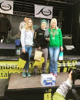 Veronika Windisch holte sich bei einem Weltcupbewerb im Treppenlaufen zwei Siege.