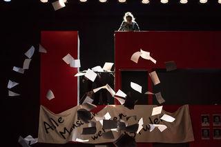 """Sophie Scholl (Janina Raspe) in """"Die Weiße Rose"""""""