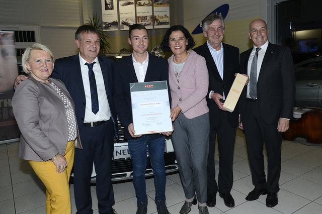 Erwin und Daniel Frieszl mit Bgm. Klara Liszt, KoR Andrea Gottweis, KoR Gerhard Schranz und LAbg. Bgm. Georg Rosner.
