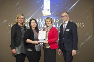 Elfi Schenkel (Tagen in Österreich), Nicole Wagner und Astrid Ochensberger (Garten-Hotel Ochensberger), Thomas Wolfsegger (Tagen in Österreich) (vlnr).