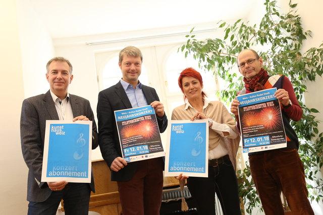 Präsentierten das Abo-Programm für 2018: König, Bratl, Kahr und Donnerer (v.l.).