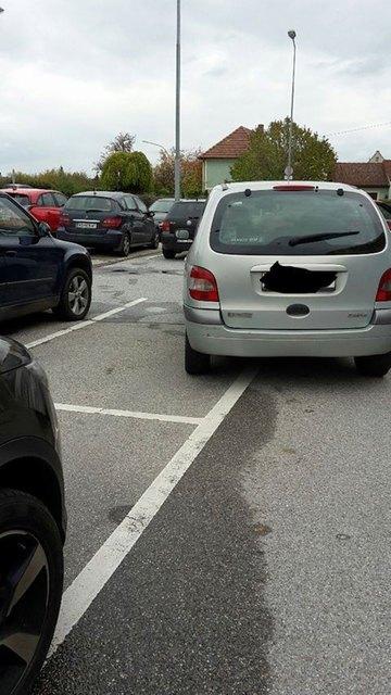 Grad einparken kann wohl jeder, dachte sich dieser Kunstparker.