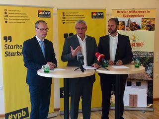 Alexander Biach, Thomas Steiner und Christian Sagartz zum Landesvoranschlag.