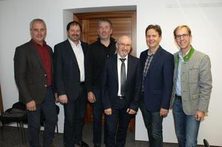 v.l.n.r. Bürgermeister: Friedrich Wachmann (Feistritztal), Erich Prem (Gersdorf), Herbert Baier (Pischelsdorf), NMS Dir. Johann Jandl; GR Dr. Andreas Strempfl; Bürgermeister: Andreas Nagl (Ilztal)