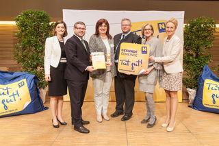 Christa Rameder, Bgm. Michael Göschelbauer, GR Annemarie Widauer, LH Johanns Mikl-Leitner, Alexandra Kappl