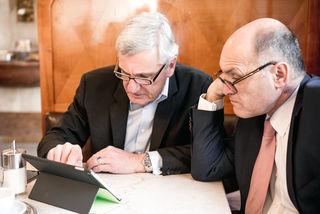 Harald Preuner mit Innenminister Wolfgang Sobotka.