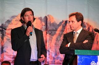 Franz Theurl und Martin Gratz (l.) stellen Ansprüche auf den Obmannposten im TVB Osttirol.