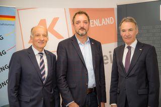 Gemeinsam für die Sozialpartnerschaft: LWK-Präsident Franz Stefan Hautzinger, AK-Präsident Gerhard Michalitsch und WK-Präsident Peter Nemeth