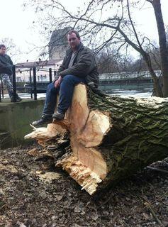 Markus Schalling beschäftigt sich beruflich mit Holz.