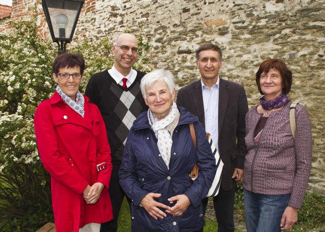 Der Vorstand des Concentrum: Obfrau Friederike Treiber, GF Gerhard Harkam, Adelheid Gamauf, Gustav Krammer und Sylvia Pleyer