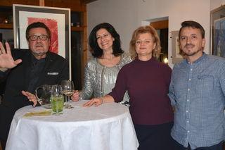 Musikalische Skorpione in der Galerie M: Ralph Neil, Luzia Malik, Regina Mayerhofer und Martin Koch.