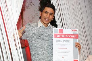 Im Bild Mehdi Hosseini, der als Lehrling des Jahres ausgezeichnt wurde.
