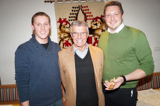 Große Fußstapfen: Jakub Maly, Ferdinand Kendi und Oskar Dörfler