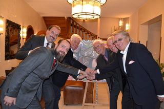 Der Wirtschaftsverband Kärnten feiert Jubiläum: GF Horst Kandutsch, Präsident Alfred Trey, KR Horst Eder, KR Hugo Rom, KR Johann Ogris, KR Poldi Sever