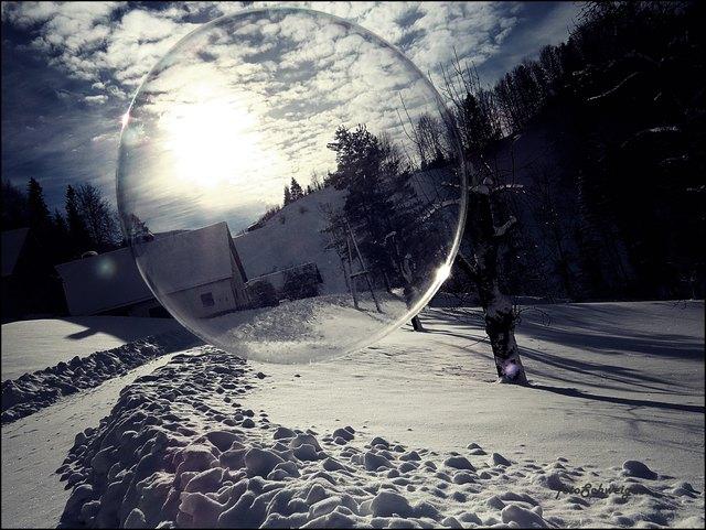 Den Winter in einer Seifenblase gefangen.....
