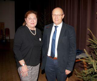 Die beiden Vortragenden Dr. Branca Saciri und Dr. Herbert Strobl.