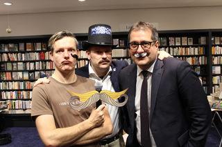 Komiker Daniel Lenz, GR/Organisator Lorenz Jahn, StR Franz X. Gruber