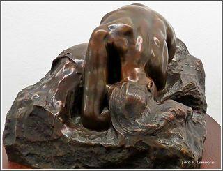 Bronze-Skulptur der griechischen Mythologie. Eine Interpretation des Schicksals der Danaiden.