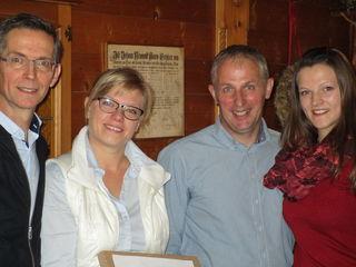 Amtsübergabe in Reisseck: Herwig Fercher, Stephanie Petutschnig, Peter Golger und Daniela Tamegger