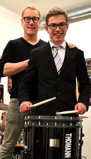 Walter Grechenig mit seinem begabten Schüler Lukas Sepperer