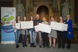 """Preisübergabe beim """"Citizen Science Award"""" an der Universität Wien."""
