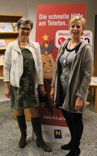 v.l.n.r. Anita Schödl und Maria Körber (beide DGKP/Wechseljahrberaterinnen)