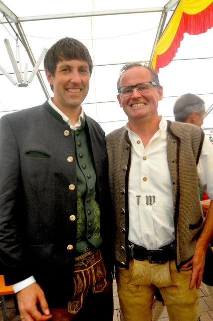 Ortsstellenleiter T. Wurzrainer mit Chr. Stöckl.