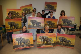 Claudia und Manuela Kuzel, Gabi Hahnl, Hilda Schrenk, Manuela Liemer, Nicole und Maria Lintner, Angelina Burggraf, Martina Zach und Manuela Schober