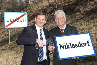 Der Leobener Bürgermeister Kurt Wallner und der Niklasdorfer Ortschef Johann Marak vertreten beim geplanten Krematorium unterschiedliche Auffassungen.