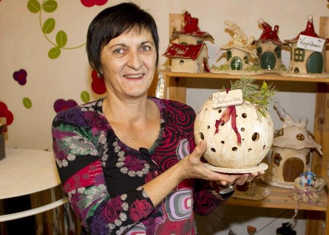 Heidi Binder öffnet vor Weihnachten ihr Atelier in der Schanzgasse in Stadtschlaining