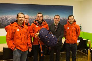 Harald Riedler (2.v.r.) mit Mitgliedern des BRD