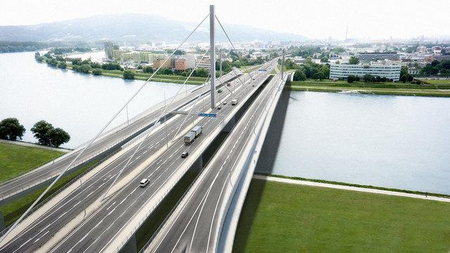 100.000 Fahrzeuge rollen täglich über die Vöest-Brücke. Ab 2020 sollen zwei Zusatzbrücken den Verkehr entlasten.