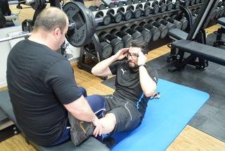 Bauchmuskeltraining für Amateure.