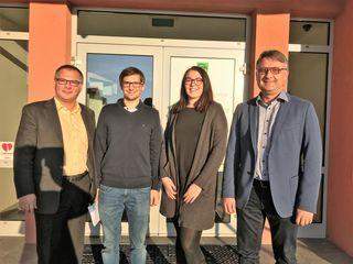 Spartenobmann Ing. DI (FH) Gerhard Köppel, Markus Rechberger, Julia Zumpf und BM DI Michael Petrakovits