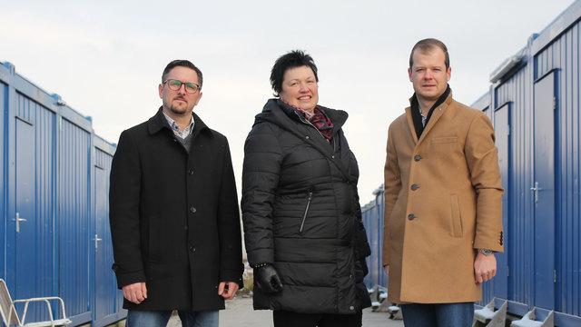 Manuel Scherscher, Claudia Marksteiner und Andreas Gruber von der ÖVP.