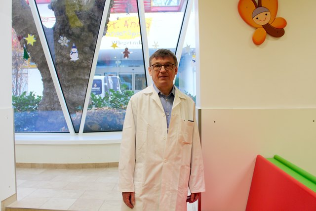 Chef der Einrichtung: Prof. Wolfgang Holter ist seit 2012 ärztlicher Leiter des St. Anna Kinderspitals.