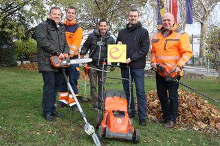 Beim Klosterneuburger Stadtgartenamt kommen ab sofort elektrische Gartengeräte zum Einsatz.