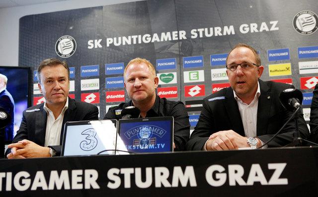 Auf gute Zusammenarbeit: Christian Jauk, Heiko Vogel, Günter Kreissl