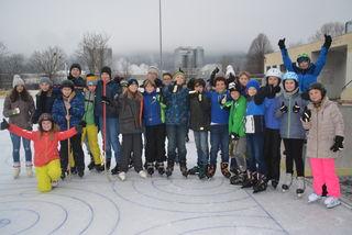 Schüler der DaVinci-Schule aus Hartberg waren am Donnerstag Vormittag am Pinkafelder Eis.