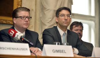 Forderten die Bewohnerbefragung: die beiden City-Politiker Sebastian Gimbel (l.) und Bezirkschef Markus Figl.